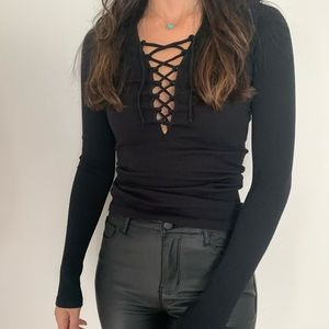free people lace up long sleeve